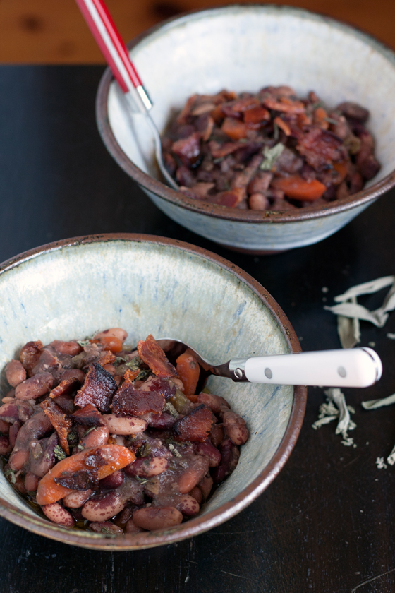 Jacobs Cattle Beans With Bacon Sage