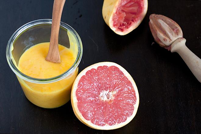 pink grapefruit curd