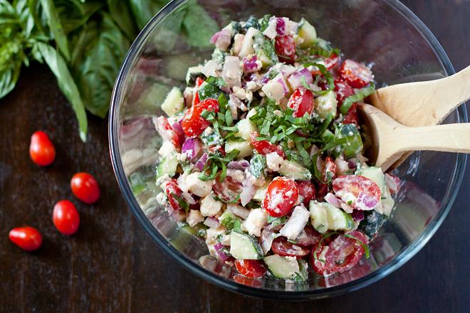 Cucumber Tomato Feta Salad |