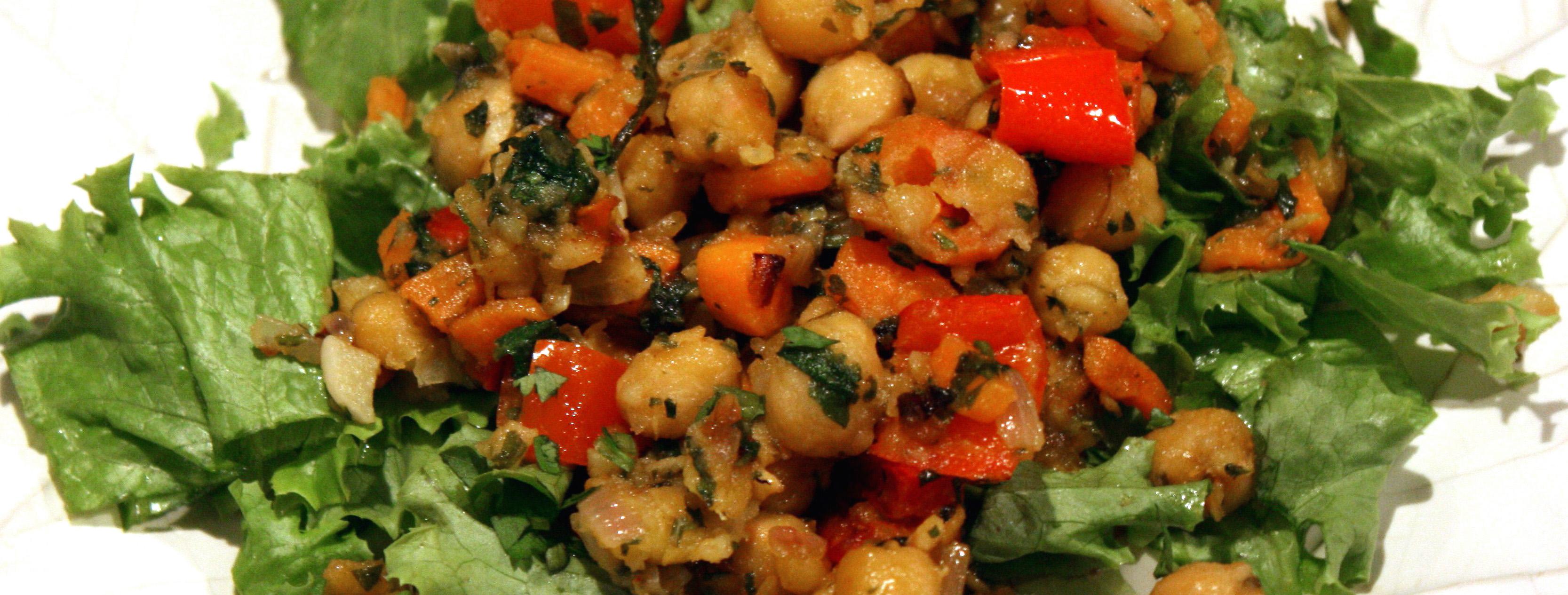 Lemony Chickpea Stir-fry Recipe — Dishmaps