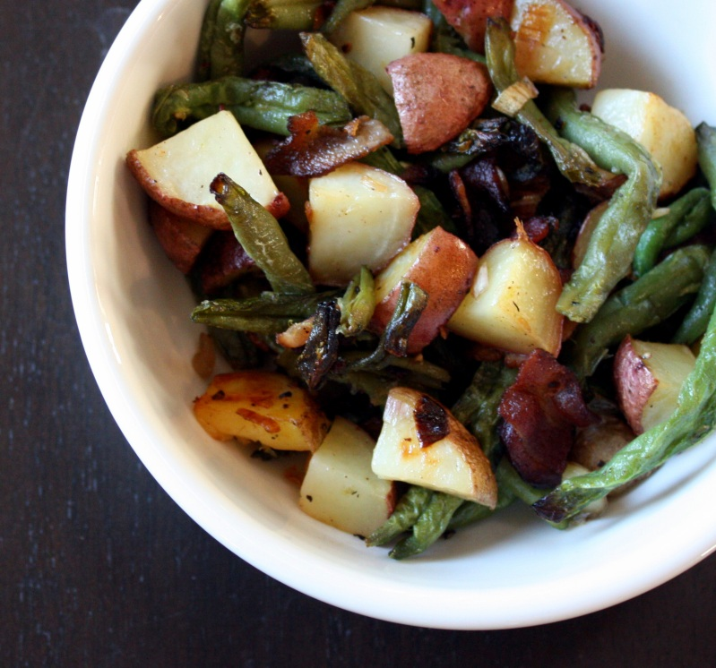 Dark Days Roasted Green Beans With Potatoes Amp Bacon