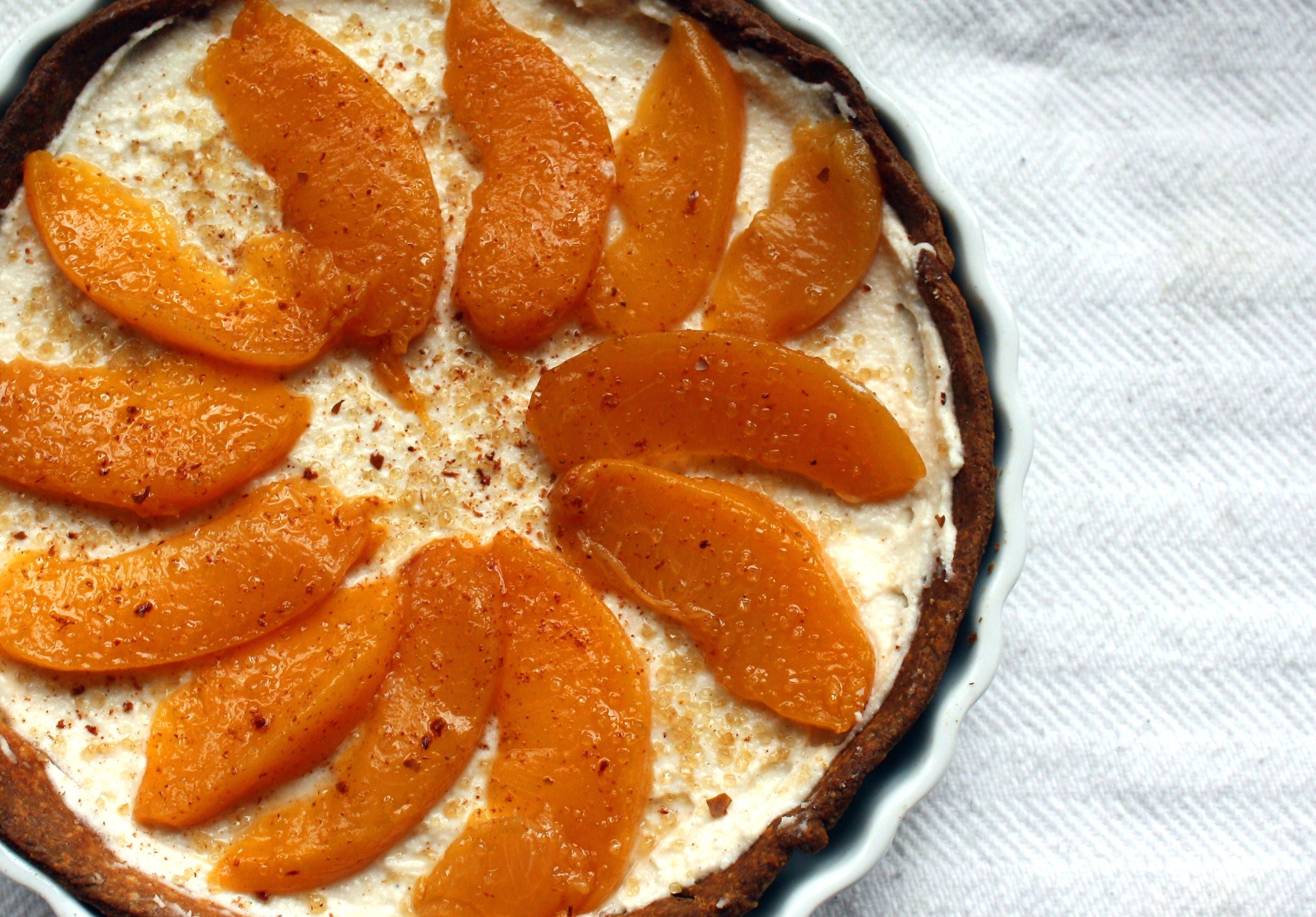 Sweet Ricotta Tart with Honey-Spiced Peaches |