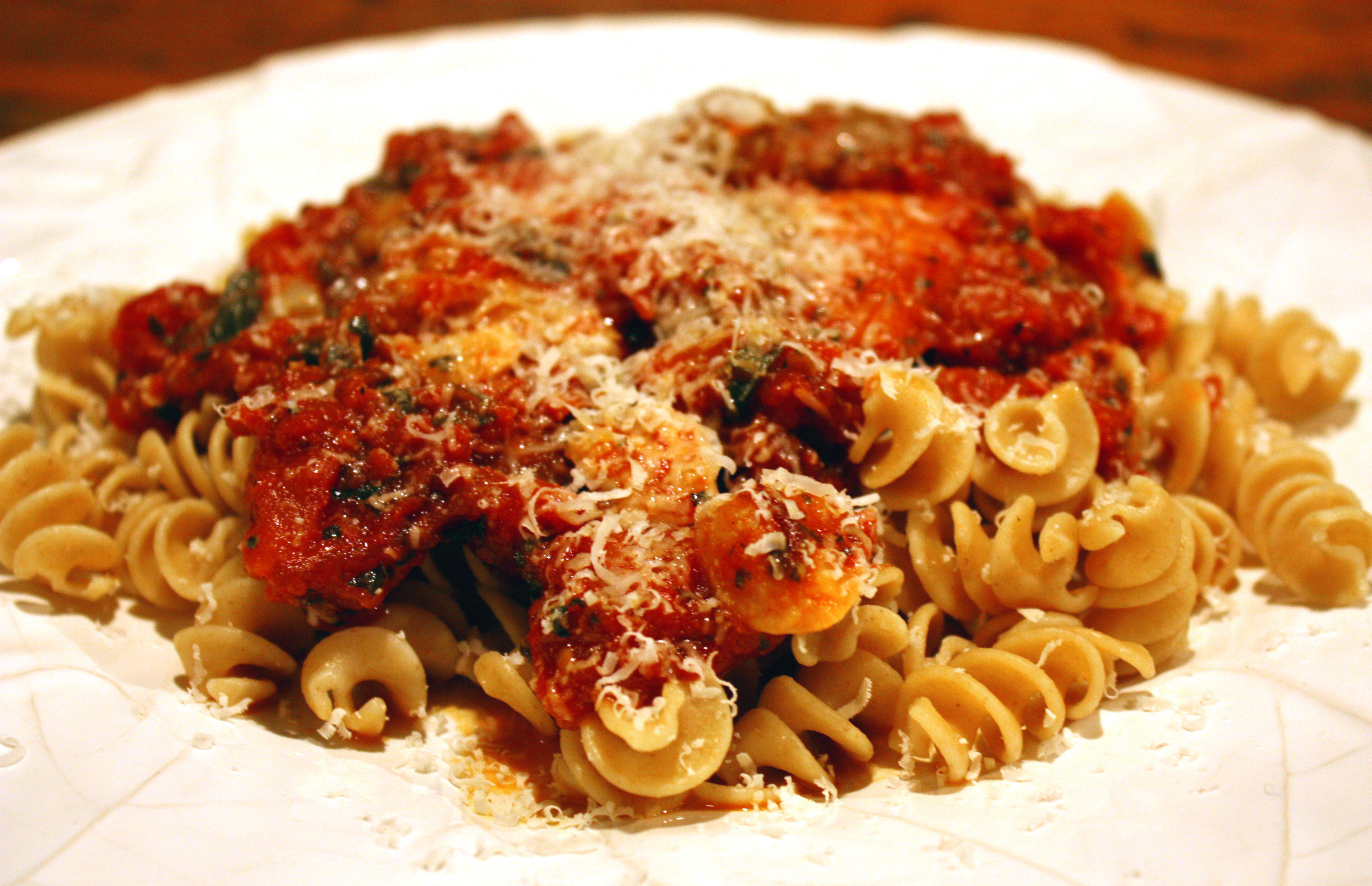 Tomatoes chicken and pasta recipe