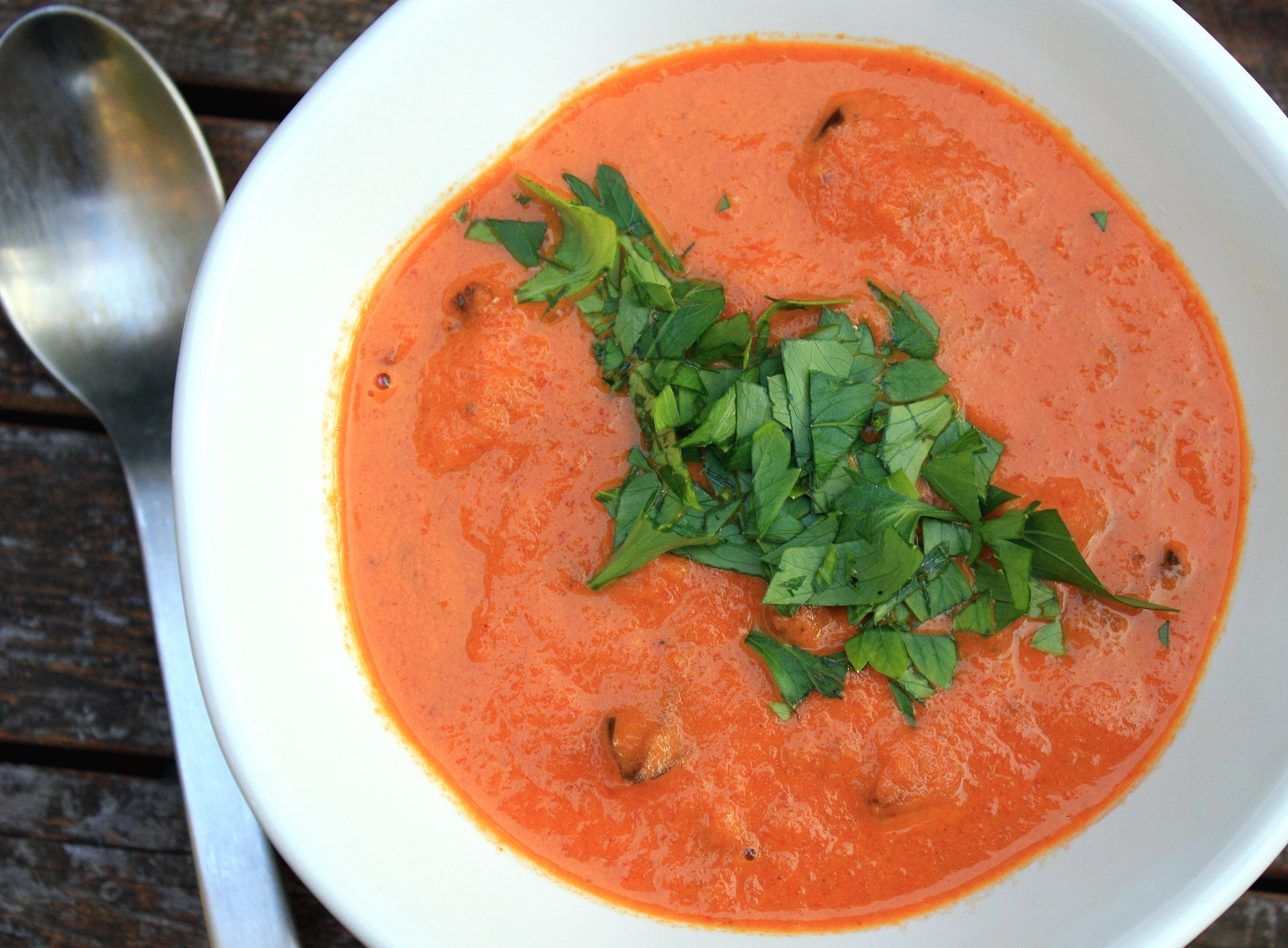 Roasted Tomato & Eggplant Soup |