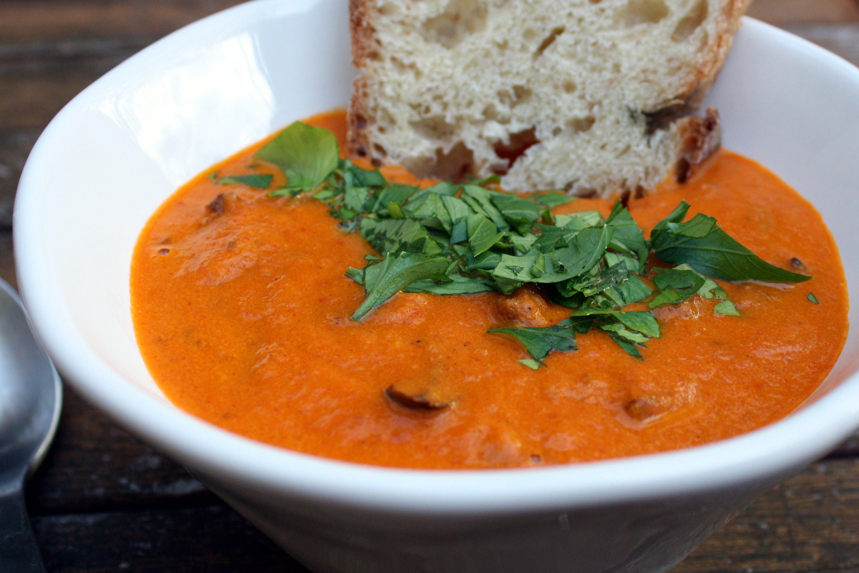 Roasted Tomato & Eggplant Soup |