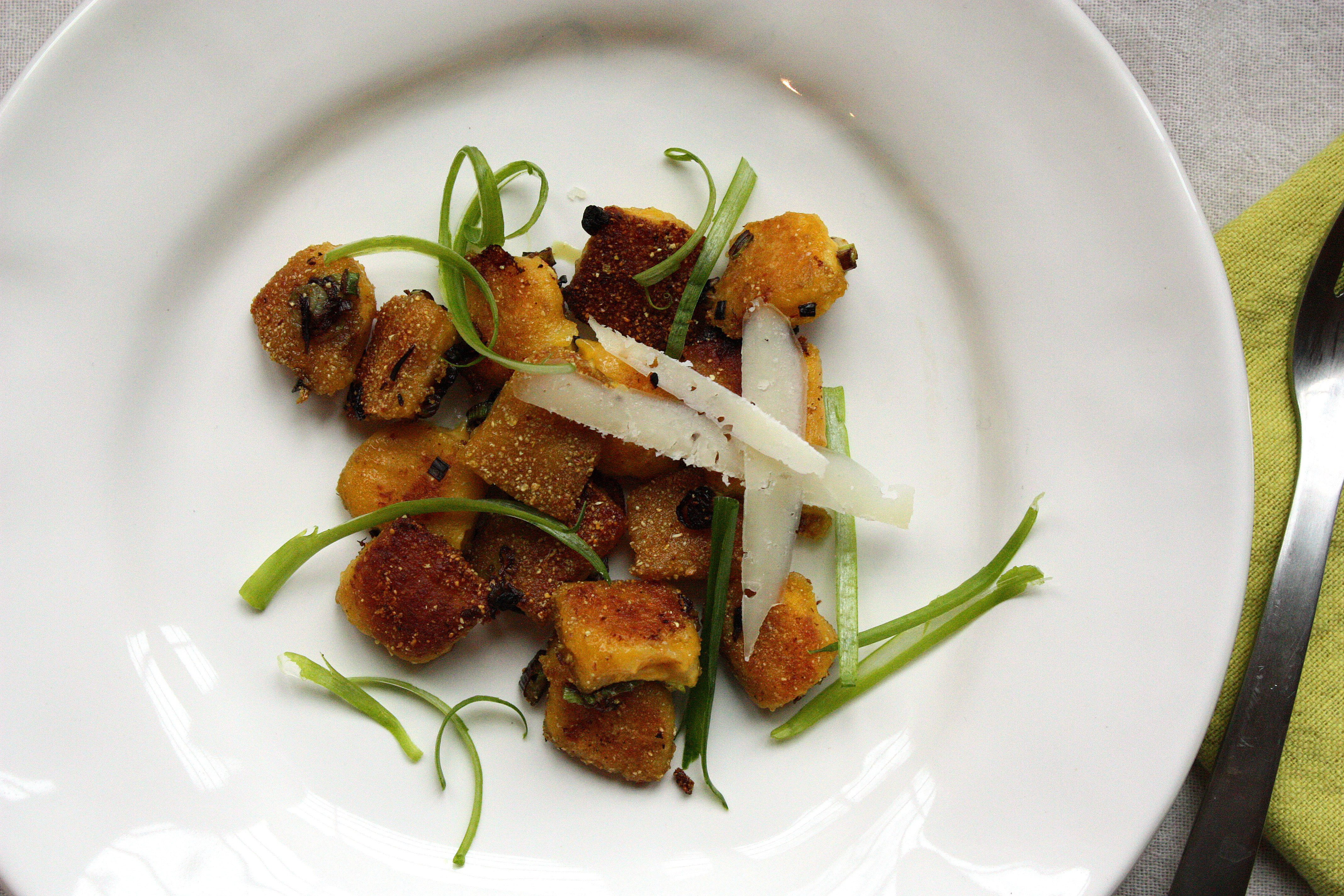 Dark Days: Pan-Fried Gnocchi with Roasted Pumpkin Seed Oil |