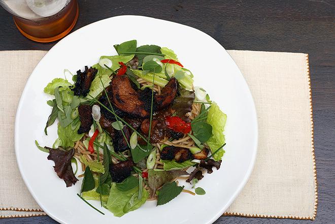 Crispy Pork with Rhubarb Sauce |