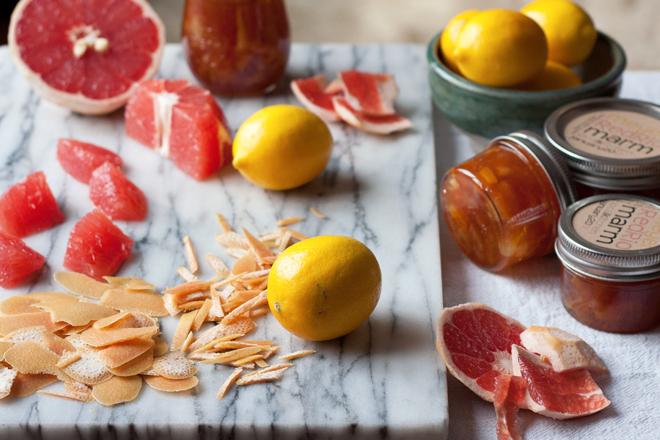 Meyer lemon red grapefruit marmalade