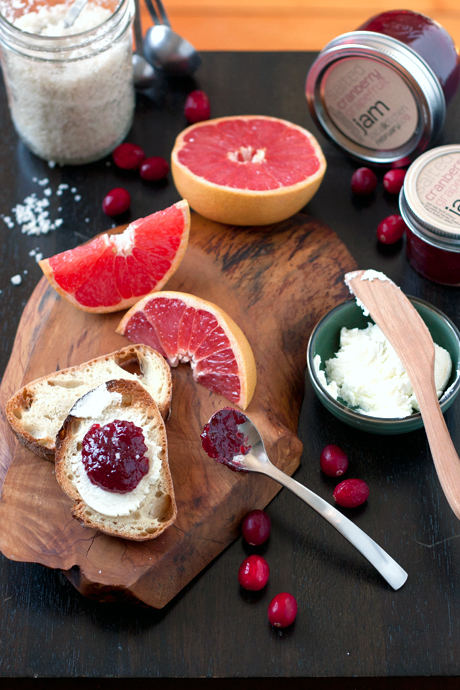 salted cranberry grapefruit jam