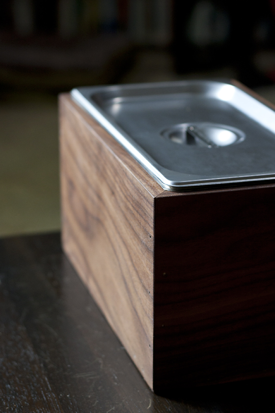 Awesome ... Saw The Noaway Bin In Food52u0027s Provisions Shop. A Beautiful Walnut Box  With A Lightweight, Stainless Steel, Long And Shallow Insert To Hold The  Compost.