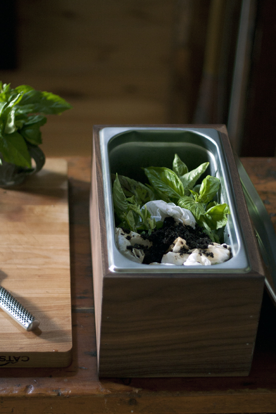 DIY Walnut Countertop Compost Bin |